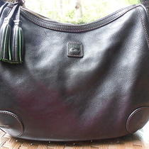 Dooney & Bourke Florentine Side Pocket Hobo Black Leather Rare Style Euc Photo