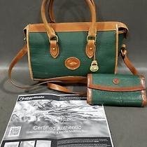 Dooney & Bourke Green Purse & Wallet W Coa Photo