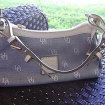Dooney & Bourke Grey/off White Canvas & Leather Trim Handbag Photo