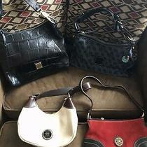 Dooney Bourke Handbag /black Embossed Croc Shoulder Bag  Lot of 4 Purses Photo