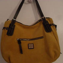 Dooney & Bourke Handbag Yellow Nina Large Suede Purse With  Retail 228. Photo