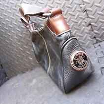 Dooney Bourke Handbags All Weather Leather Brown Black Purse Bag Metal Duck Photo