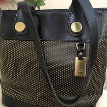 Dooney Bourke Handbags Black Beige Wholes Gold Pendant Handle Shoulder Bag Ml Photo