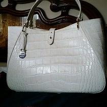 Dooney Bourke Handbags Ivory Croco Camilla New   Photo