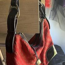 Dooney Bourke Handbags Large Hobo Red and Gold With Coin Purse and Wallet Photo
