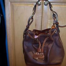 Dooney Bourke  Hobo/drawstring Bag Brown Leather  Photo