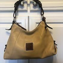 Dooney & Bourke Hobo Shoulder Bag Khaki Leather Tan Handbag Purse Photo