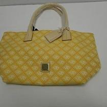Dooney & Bourke Hq67b I8 Sun / Linen/orange Signature Quilt Small Russel Bag Pur Photo