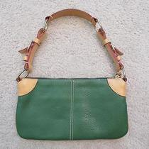 Dooney & Bourke Kelly Green O-Ring Pebbled All Weather Leather 2 Shoulder Bag Photo