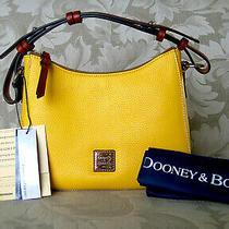 Dooney & Bourke Kiley Sunset Yellow Pebbled Leather Hobo---Nwt 228 Photo