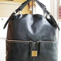 Dooney & Bourke Large Black Pocket Sac./hobo/shopper Photo