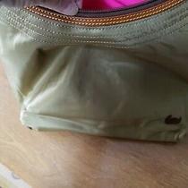 Dooney & Bourke Large Erica Khaki Nylon Leather Hobo Purse Shoulder Bag Nwt Photo