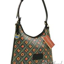 Dooney & Bourke Large Hobo Bag Black Signature Crossword Exclusive Tote Nwt 275 Photo