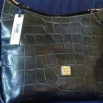 Dooney & Bourke Large Leather Croco Sac  Photo