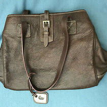 Dooney Bourke Large Pebbled Brown Leather Buckle Tote Shopper Shoulder Purse Bag Photo