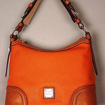 Dooney & Bourke Leather 75th Anniversary Hobo Handbag  Orange  Nwt 248 Photo