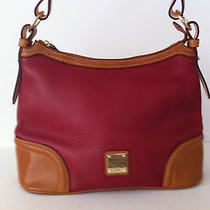 Dooney & Bourke Leather Hobo Bag  - Cranberry Photo
