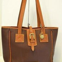 Dooney & Bourke Leather Shoulder Bag/tote in Purple Photo