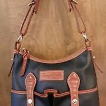 Dooney Bourke Lucy Black Leather Shoulder With Crossbody Strap Bag Purse New Photo