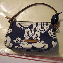 Dooney & Bourke Mickey Mouse Disney Blue & Navy Pochette Bag Purse  Photo