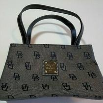 Dooney & Bourke Mini Canvas East West Hand Bag Tote Shopper Purse Signature New Photo