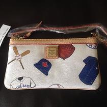 Dooney & Bourke Mlb Toronto Blue Jays Wristlet Wallet Handbag New Nwt Photo