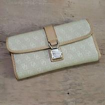 Dooney & Bourke Monogram Canvas Leather Clutch Wallet 148 Photo