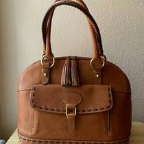 Dooney & Bourke Natural Florentine Leather Domed Front Pocket Satchel Handbag Photo
