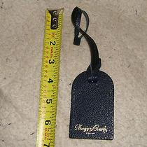 Dooney & Bourke Navy Blue Leather Luggage/handbag Tag - No Plastic Window  Photo