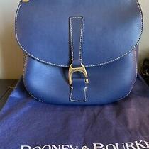 Dooney & Bourke Navy Blue Leather Purse Photo
