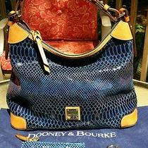 Dooney Bourke Navy Snake Embossed Hobo Photo