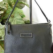 Dooney & Bourke New Black Pebble Leather Mini Zip Hobo Photo