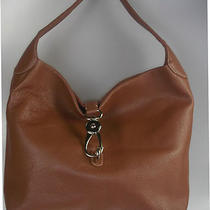 Dooney & Bourke New Leather Hobo With Logo Lock Saddle Tan Photo