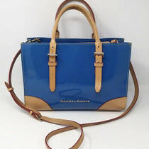 Dooney & Bourke Ocean Blue Patent Janine Bag Purse Double Handle Snap Closure Photo