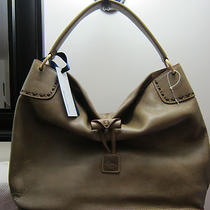 Dooney & Bourke Olive Green Leather Large Toggle Sac Bag Purse Hobo Florentine Photo