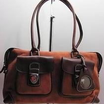 Dooney Bourke Orange Spice Db Fabric and Leather Shoulderbag Handbag Satchel Photo