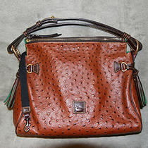 Dooney & Bourke Ostrich Leather Bag Purse Euc Look Free Shipping Photo