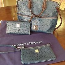 Dooney & Bourke Ostrich Leather Embossed Pocket Satchel Photo