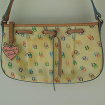 Dooney & Bourke Pale Yellow Monogram Shoulder Bag Photo