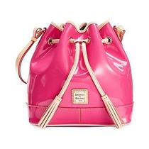 Dooney & Bourke Patent Drawstring Hobo Bnwt  Colorfuchsia Photo