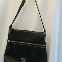 Dooney & Bourke Pebble Leather Shoulder Messenger Handbag Black 188 Photo