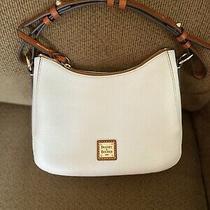 Dooney & Bourke Pebble Leather Small Kiley Hobo (White) Preowned Photo