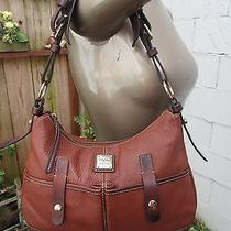 Dooney & Bourke Pebbled Hobo Double Pocket Bag Purse Tote Handbag Satchel  Photo