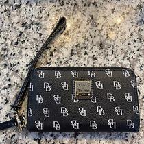 Dooney & Bourke Pebbled Leather Black Wristlet Wallet  Photo