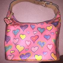 Dooney & Bourke Pink Hearts Hobo Bag Vibrant Nice (Dooney and Bourke) Photo