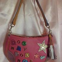 Dooney & Bourke Pink Leather Charms & Tassel Purse Shoulder Bag Euc Photo