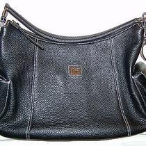Dooney & Bourke Portofino Pebbled Leather Large Pocket Sac Black Hobo Photo