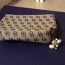 Dooney & Bourke Qvc Gray & Navy Print Makeup Bag & Size 8 Artisan Crafted Ring Photo