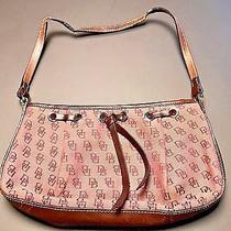 Dooney & Bourke Raspberry Red Pink Canvas Logo Shoulder Purse Handbag Photo