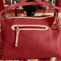 Dooney & Bourke Red Pebble Leather Small Sac With Key Fob Photo